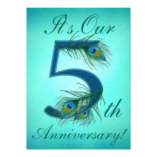 5 / 5th / 5th Anniversary / number 5 Invitation