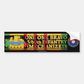 5/60th Inf. Mech. One One Bravo Bumper Sticker Car Bumper Sticker