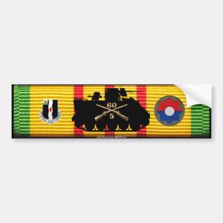 5/60th Inf Track & Insignia on VSM Ribbon Bumper Sticker