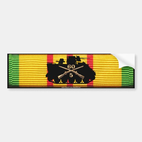 5/60th Inf Track on VSM Ribbon Bumper Sticker