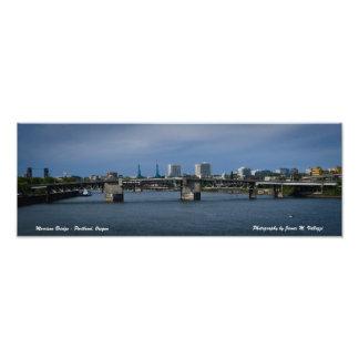 5.69 x 16.50 Morrison Bridge - Portland, Oregon Art Photo
