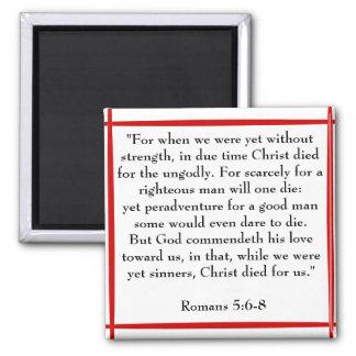5:6 de los romanos - imán de 8 escrituras