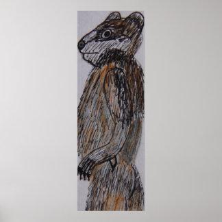 5.6 ft tall Badgerman LS Poster