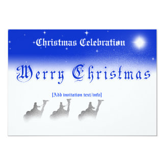 """5"""" 7"""" Three Wise Men Merry Christmas  Party Invita Card"""