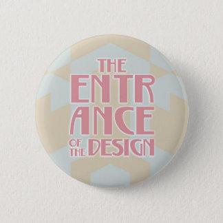 5.7cm Can batch [Art Deco] Pinback Button
