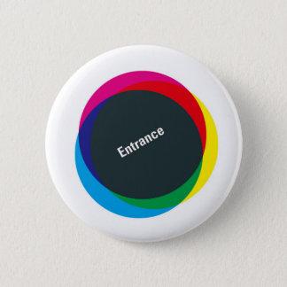 5.7cm Can batch [Grid] Pinback Button
