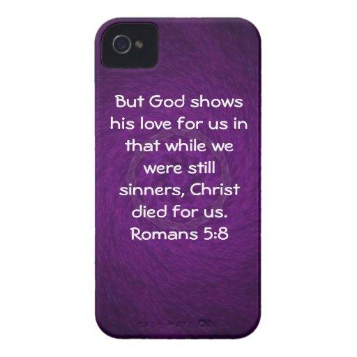 5:8 de los romanos de la cita de la escritura del  iPhone 4 cobertura