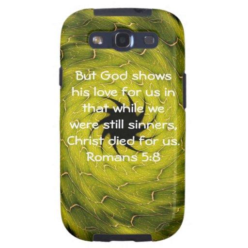 5:8 de los romanos de la cita de la escritura del  galaxy s3 protectores