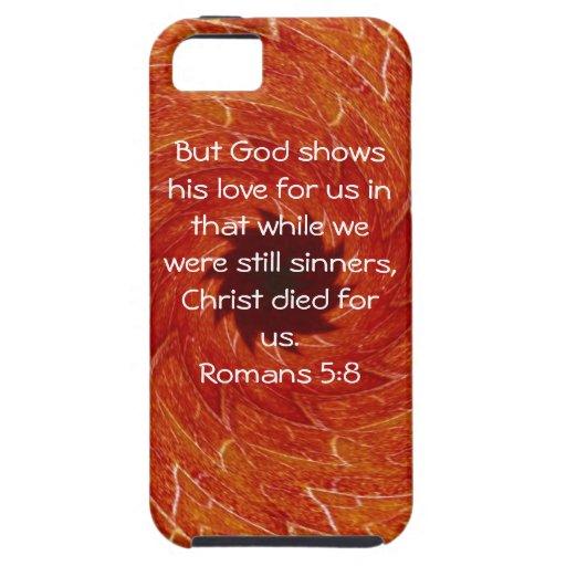 5:8 de los romanos de la cita de la escritura del  iPhone 5 carcasa