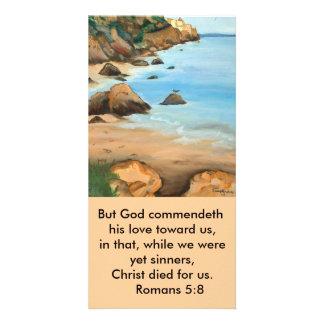5:8 de los romanos de la señal tarjetas fotográficas personalizadas