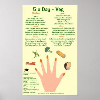 5 a Day poster veg