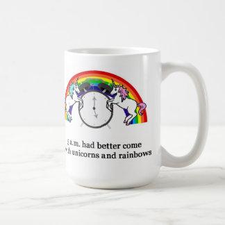 5 AM Needs Unicorns Coffee Mugs