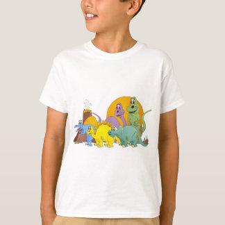 5 amigos del dinosaurio playera