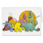 5 amigos del dinosaurio tarjeton