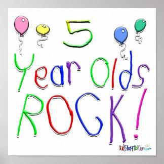 ¡5 años de la roca! posters