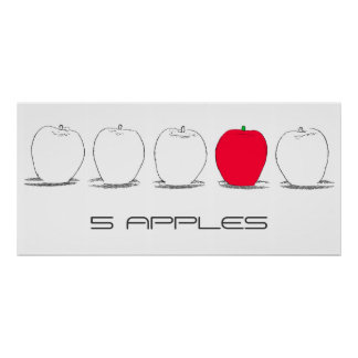 5-Apples-Poster Poster