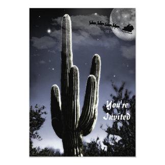 5 Armed Desert Saguaro in the Moonlight Card