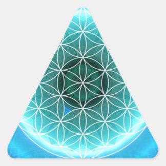 5 azules claros del chakra de la garganta creados pegatina trianguladas personalizadas