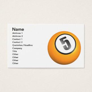 5 Ball Business Card
