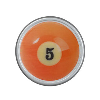 """""""5 Ball"""" pool ball design gifts and products Bluetooth Speaker"""