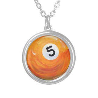 5 Ball Silver Plated Necklace