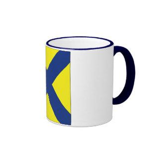 5 bandera de señal cinco tazas de café