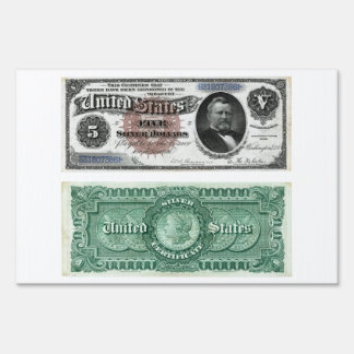 $5 Banknote Silver Certificate Series 1886 Sign