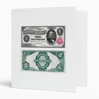 $5 Banknote Silver Certificate Series 1891 Binder