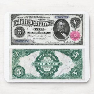 $5 Banknote Silver Certificate Series 1891 Mouse Pad