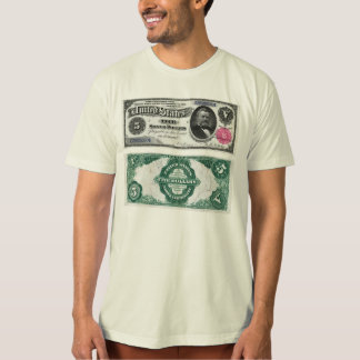 $5 Banknote Silver Certificate Series 1891 T-Shirt