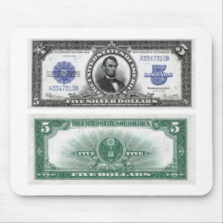 $5 Banknote Silver Certificate Series 1923 Mouse Pad