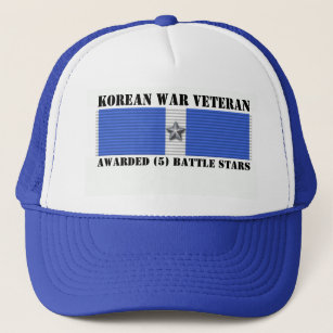 5 BATTLE STARS KOREAN WAR VETERAN TRUCKER HAT 774c75143cb