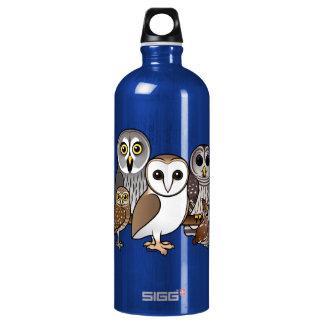 5 Birdorable Owls Aluminum Water Bottle