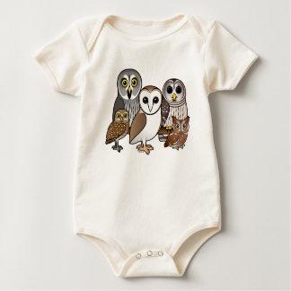 5 Birdorable Owls Baby Bodysuit