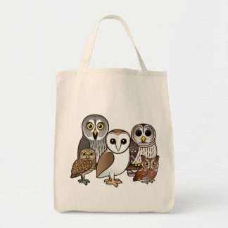 5 Birdorable Owls Grocery Tote Bag