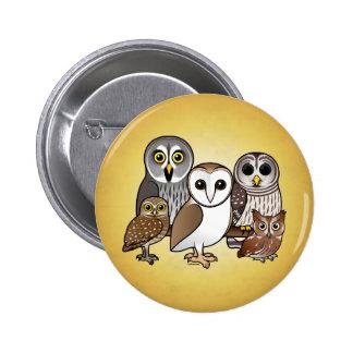 5 Birdorable Owls Button