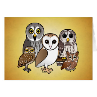 5 Birdorable Owls Card
