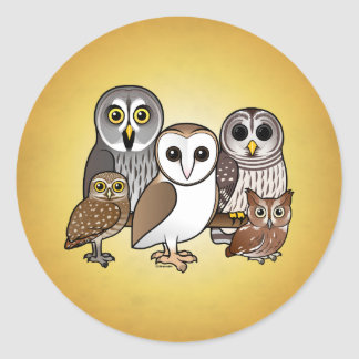 5 Birdorable Owls Classic Round Sticker