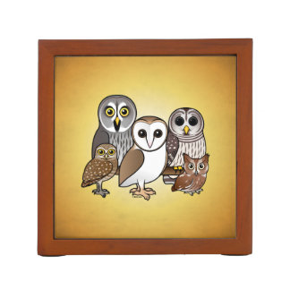 5 Birdorable Owls Desk Organizer