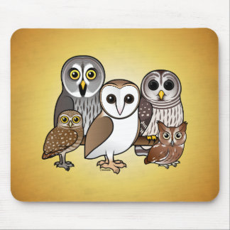 5 Birdorable Owls Mouse Pad