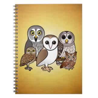 5 Birdorable Owls Notebook