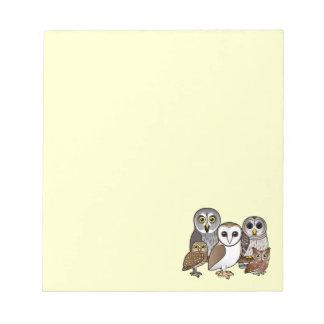 5 Birdorable Owls Notepad
