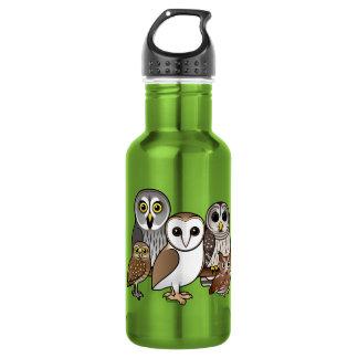 5 Birdorable Owls 18oz Water Bottle