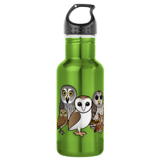 5 Birdorable Owls Stainless Steel Water Bottle