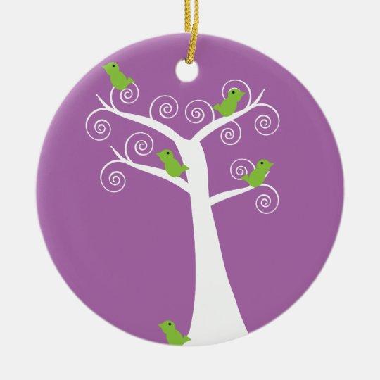 5 Birds in a Tree Ornament