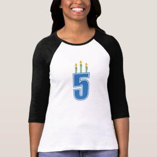 5 Birthday Candles (Blue / Green) T-Shirt