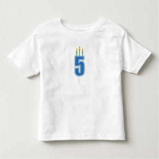 5 Birthday Candles (Blue / Green) Toddler T-shirt