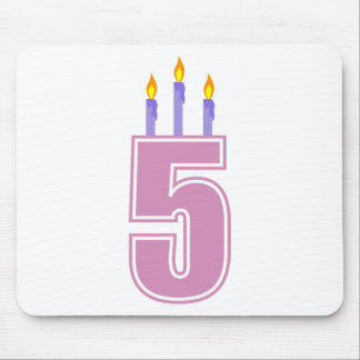 5 Birthday Candles (Pink / Purple) Mouse Pad