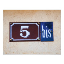 5 bis 55th Birthday for Francophile French Speaker Card
