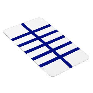 5 bisecó líneas azules iman rectangular
